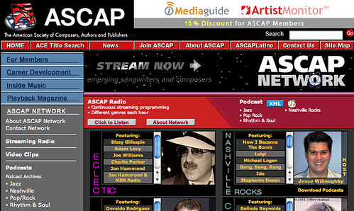 Jon Hammond Host of New ASCAP RADIO NETWORK