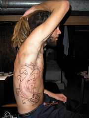 (KCrlni) Tags: art shop tattoo dreadlocks ink artwork skin aaron professional ribcage dread dreads tat tattooshop tattooing marshfield tattooed dreadhead