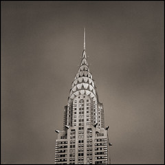 Another Famous Building (T. Scott Carlisle) Tags: nyc bw newyork film mood 2006 hasselblad chrysler toned tsc trix360 tphotographic tphotographiccom tscarlisle tscottcarlisle