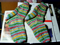 I Finished Knitting the Socks!