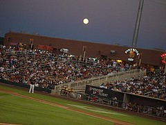 MOONRISE OVER ISOTOPES STADIUM
