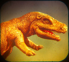 Tyrannosaurus, killer-king of the flesh eaters. (diastema) Tags: viewmaster greatjustwhatineedanotherobsession