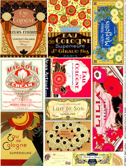 Art Nouveau Perfume Labels