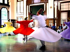 Whirling Dervishes (shioshvili) Tags: show red white colors yellow turkey concert purple spin prayer religion belief istanbul spinning sema sufi sufism mystic dervish dervishes whirl mysticism mystics sirkeci whilring