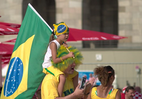Little Brazilian Fan at the Fanfest in Nuremberg