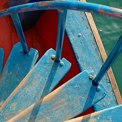 Stairway (Yorick...) Tags: travel blue sea water colors thailand asia graphic yorick