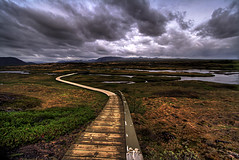 The easy way ... (asmundur) Tags: iceland bravo path thingvellir hdr partlycloudy photomatix june2006 3exposures gtaggroup