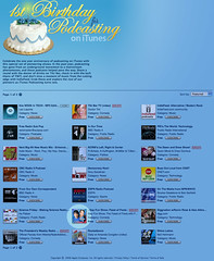 Apple celebrates iTunes' First Birthday for Podcasting!