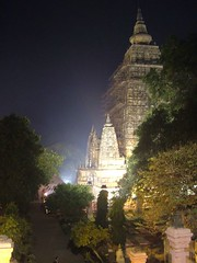 Mahabodhi Temple at night