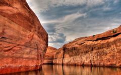 up a canyon (lucky e) Tags: arizona lake utah desert hd