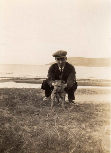 A Man & His Dog - Vintage by Tobyotter.