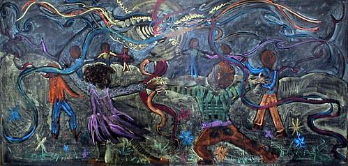 Waldorf Chalkboard Drawing by xeaza.