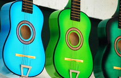 Guitars (navid j) Tags: california music color green topf25 topv111 catchycolors sandiego turquoise guitars jade instrument fv10 oldtown oneyear