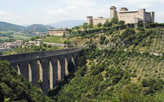Spoleto Aqueduct (Stephen P. Johnson) Tags: bridge castle aqueduct getty cai spoleto accept rocca umbria submit specland may065402