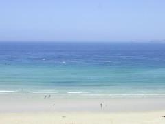 Carbis Bay, St Ives, Cornwall (Richard and Gill) Tags: blue sea summer sky beach seaside sand cornwall bluesky stives johnmiller carbisbay