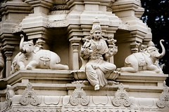 Temple Goddess (halfgeek) Tags: india temple lakshmi religion bangalore statues badge karnataka hindu pleasantlytilted