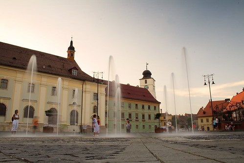 Large Square Sibiu-Romania by CamilG