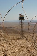 Un puesto de vigilancia de la forntera Israel-Egipto
