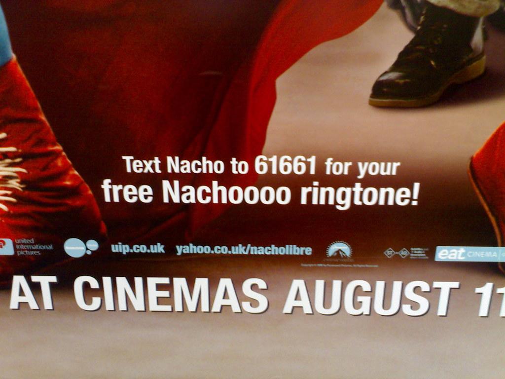 Free ringtone promo for Nacho Libre