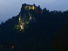 Lake Bled - Castle at night