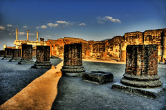 Shadows of Pompeii (Stuck in Customs) Tags: italy ruins italia shadows columns surreal pompeii hdr pompei moretags nikonstunninggallery