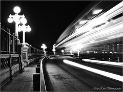 bullet train on the bridge (Kris Kros) Tags: california ca street longexposure bridge light blackandwhite bw usa white black bus public lamp beautiful night last speed train photoshop evening la losangeles interestingness big cool interesting nikon colorado pix shot nightshot post cs2 matthew fast first rail ps historic explore socal lamppost kris huge bible historical bullet nightlife pasadena elegant biblical jjj furious bullettrain humongous 2016 fastandfurious 369 coloradostreetbridge interestingness3 pscs2 kros coloradostreet eveningshot kriskros coloradobridge explorefrontpage nonhdr exploretop20 kk2k abigfave sothelastshallbefirstandthefirstlastformanybecalledbutfewchosen 2529342100 2536852300 kkefp