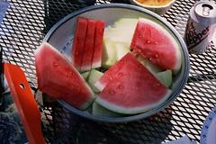 Watermelon and honeydew