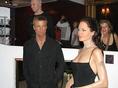 Brad Pitt and Angelina Jolie together at Madam...