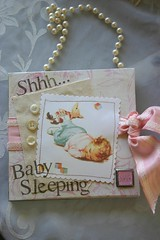 Baby Sleeping Door Hanger (fleamarketstudio) Tags: baby sign vintage scrapbooking collageart crafty alteredart shabbychic