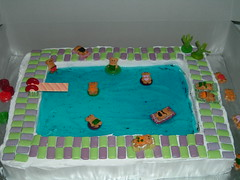 The World - Swimming Pool Cake Ideas's Best Photos of cake and pool - Flickr Hive Mind