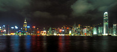 Colorful Hong Kong Island (laszlo-photo) Tags: skyline night hongkong harbor colorful victoria kowloon