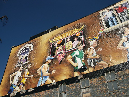 mural building for 2005 marathon