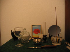 Altar - another view (Eelsalad) Tags: candle magic altar cauldron witchcraft incense chalice athame feri blackmirror