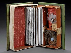 interior of Audubon (sweetmadness) Tags: books polymerclay bookbinding polymer handmadebooks