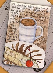 Tosca, cannoli and coffee (renmeleon) Tags: moleskine coffee watercolor italian reporter tosca ria cannoli renmeleon renfolio