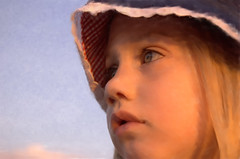 Let's Go Back to the Animals.jpg (ddk4runner) Tags: blue sunset copyright girl hat painting eyes little painted fair blonde allrightsreserved upshot ddk4runner 3girls1boy copyright2008donnakerley copyrightdonnakerley donnakerley