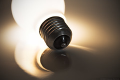 Homemade electricity (Andreas Reinhold) Tags: lighting light shadow white detail reflection glass thread bulb soft close milky lightbox