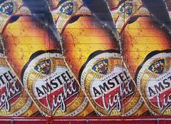 Amstel Light (Wolfgang Staudt) Tags: street newyorkcity trip travel light summer usa beer truck subway hit nikon d70 metro nikond70 manhattan garage sigma maybe miss amstel plakatwerbung wolfgangstaudt 66111