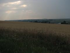 (jaja_1985) Tags: france clouds landscape wheatfield bicycletrip