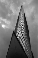 skyscraper (dreifachzucker) Tags: blackandwhite bw berlin film analog skyscraper germany deutschland nikon 28mm potsdamerplatz analogue schwarzweiss ilfordfp4 f801s sigmalens nikonf801s sigma28mmf18exdgasphericalmacro excessivephotoshopping