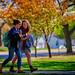 20161102 Students walking fall colors-8