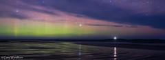 The Shoreline - Aurora Borealis, Seahouses, Northumberland (Gary Woodburn) Tags: aurora borealis northern lights seahouses northumberland inner farne farnes islands night sky stars starry dark lighthouse canon 6d samyang 24mm