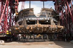 Bertha's front end begins its move (WSDOT) Tags: seattle construction gp repairs bertha tunneling tunnelboringmachine reassembly mammoet wsdot alaskanwayviaductreplacement sr99tunnel