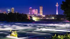 Niagara River (aidong_ning) Tags: niagarafalls americanfalls skylontower niagarariver niagaraatnight