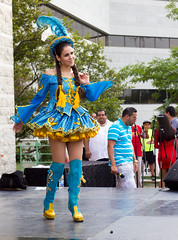 Cumbia 05 (O Harris) Tags: summer canada latinamerica girl beautiful festival canon dance costume stage ottawa longhair dancer latin latina brunette performer traditionalcostume liveperformance headgear shortdress bootsthighs