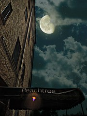 Summer Moon (Pfish44) Tags: moon composite clouds nightshot landmark sortof thepeachtree picmonkey 52weeksofpix2015