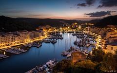 Bonifacio Harbor (Wim Air) Tags: city sunset sea france night boats lights harbor town village corsica bernhard bonifacio wimmer boarts wimairat