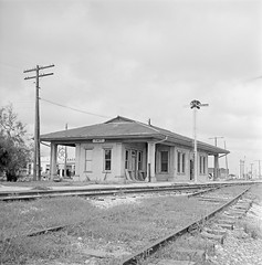 [Texas and New Orleans, Southern Pacific Railroad Station, Taft, Texas] (SMU Central University Libraries) Tags: sp tno railroads railroadstations espee depots