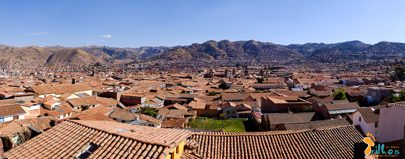 Panorâmica de Cusco, vista do pitoresco bairro de San Blas