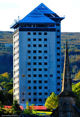 Scotland Greenock Hawick Court that is due to be blown up on Sunday 15th November 2015 picture 13 October 2015 by Anne MacKay (Anne MacKay images of interest & wonder) Tags: building by court anne scotland greenock high october picture mackay rise 13 hawick 2015